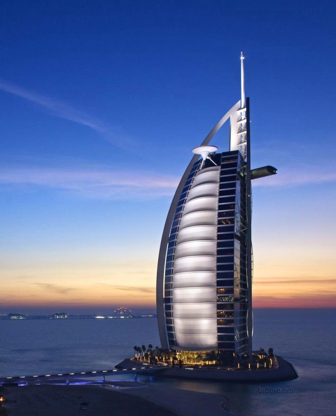 Burj Al Arab Jumeirah Hotel, Dubai at Sunset