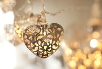 LED Filigree Heart Indoor Battery Operated Fairy Lights
