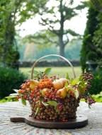 Fruits in Rustic Acorn Basket