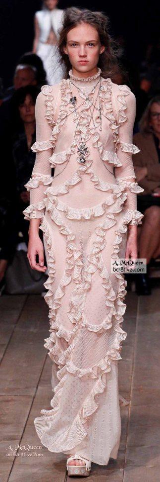 Curvy Ruffled Evening Gown - The Best of Alexander McQueen 2016