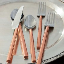 Copper Handled Flatware Set
