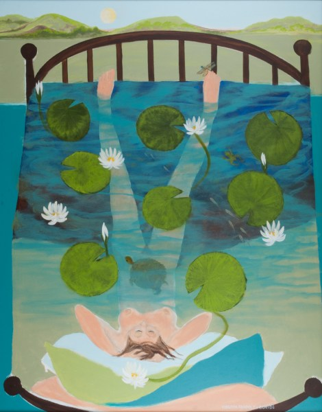 """Waterlily Healing Bed"" painting by Ginny Bueide"