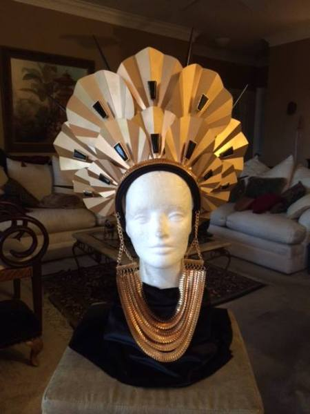 Metropolis Art Bra Headdress