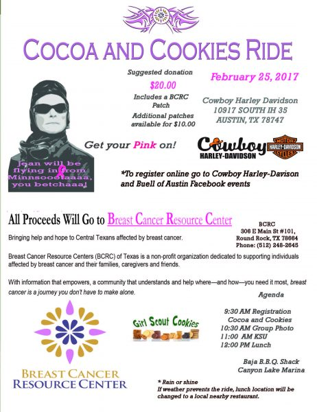Cocoa and Cookies Ride