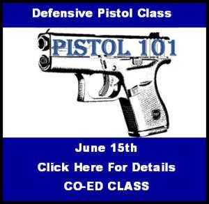 Pistol 101 Class June 15 2018