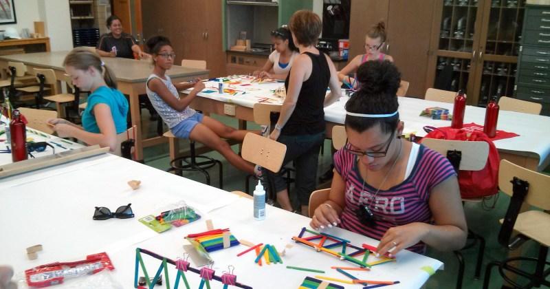 Clouston hosts Girls Inc. Eureka! summer workshop