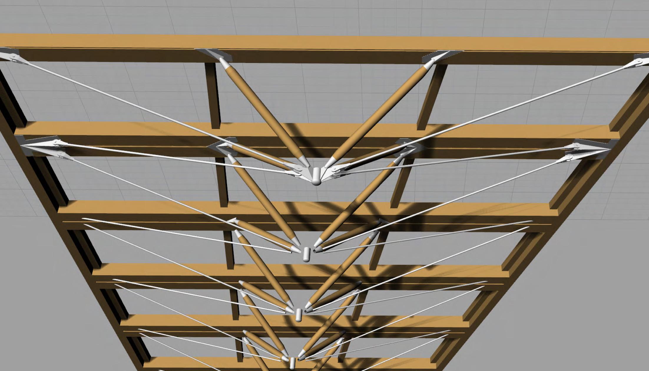 Zipper truss rendering