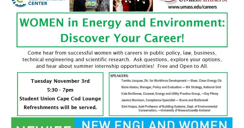 "Hoque panelist on Nov. 3 on ""Women in Energy and Environment"""