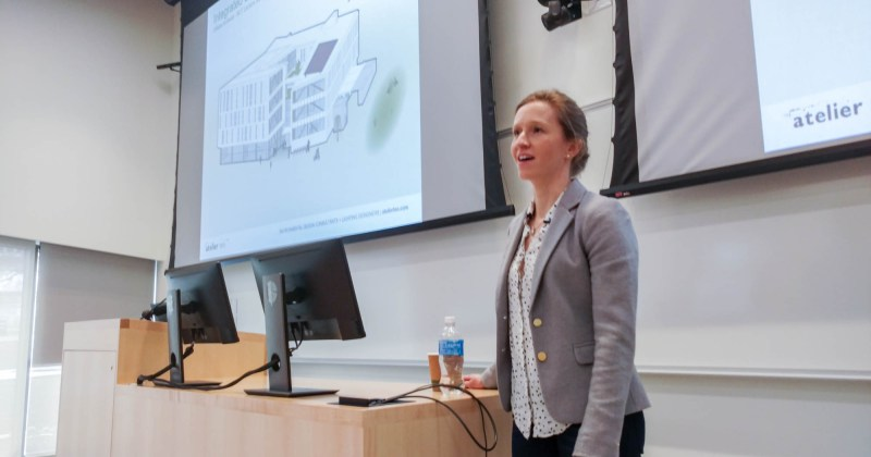 Marta Bouchard of Atelier Ten speaks about Integrated Sustainability Planning for the Design Building
