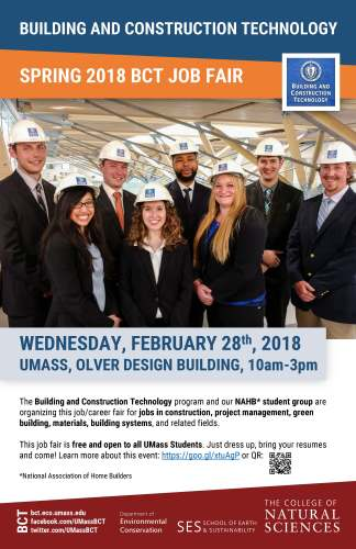BCT Spring 2018 Job Fair @ Design Building Atrium & Room 170 | Amherst | Massachusetts | United States