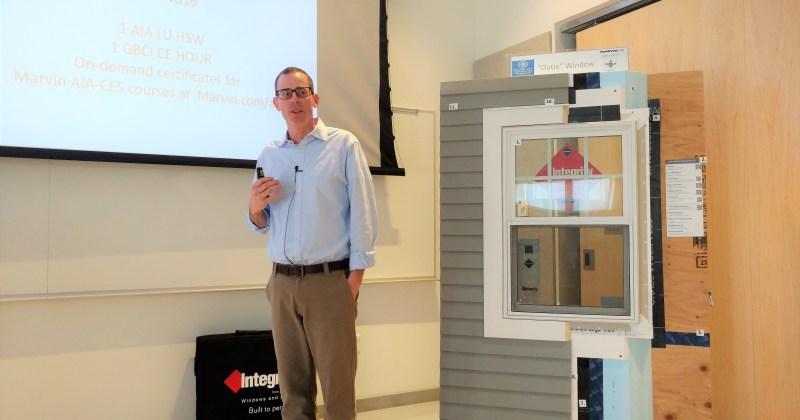 Steve Hoyt gives talk on performance glazing