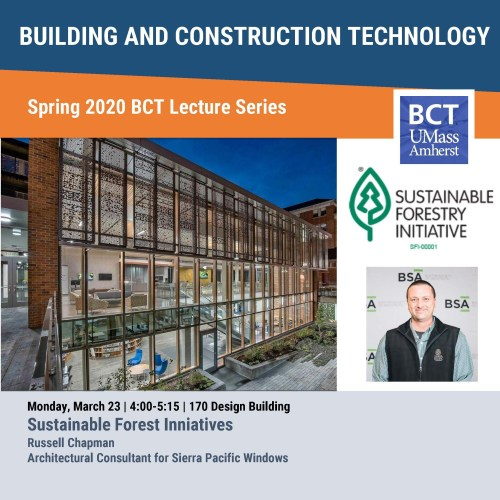 BCT Lecture: Sustainable Forest Initiatives