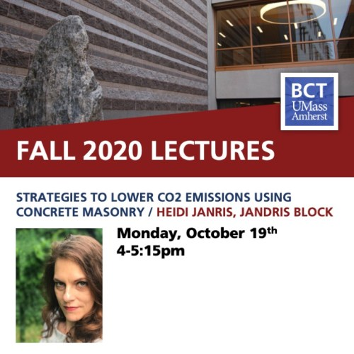 BCT Lecture. Heidi Jandris / Strategies to Lower CO2 Emissions Using Concrete Masonry @ Zoom