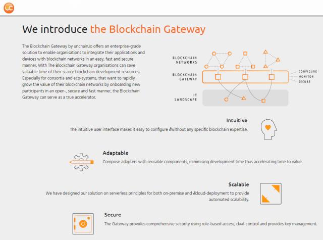 unchain.io Enterprise Blockchain Platform
