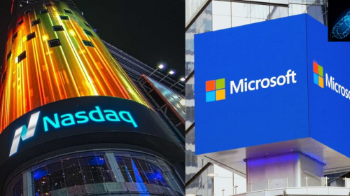 interoperable blockchain financial system nasdaq and microsoft