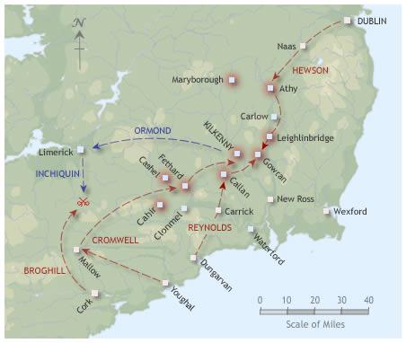 Kilkenny campaign map 1650