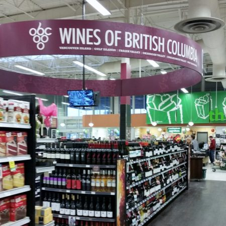 BC Wine on grocery shelves