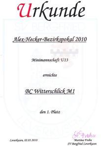 2010, Minis Urkunde