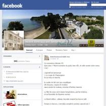 pace facebook de l'hotel restaurant bellevue de cap coz realise par bd communication situe a quimper dans le finistere sud