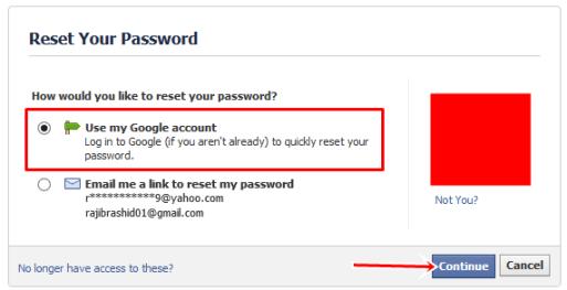 reset Your pasword