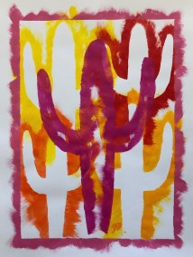 MEGENTA-STECIL-SAGUARO-ON-RED-ORANGE-YELLOW_18X24_ACRYLIC_750x1000
