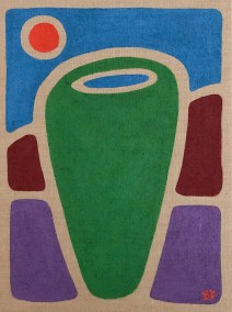 GREEN-BARREL_18X24_ACRYLIC-ON-BURLAP_1000PX