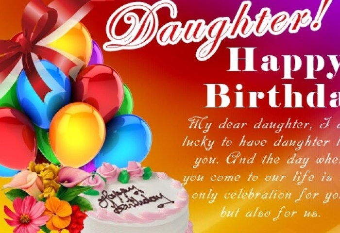 Happy Birday Daughter Wishes Cake Images Messages Quotes Happy