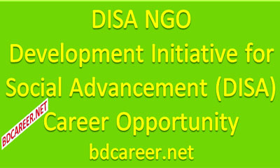 DISA NGO Career Opportunity 2020