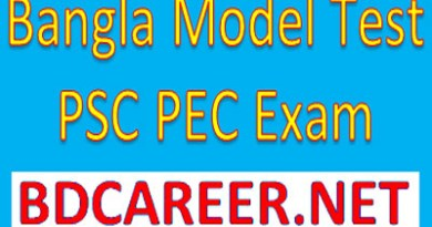 PSC Bangla Model Test 2020