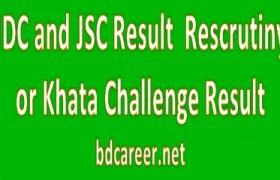 JSC Rescrutiny Result