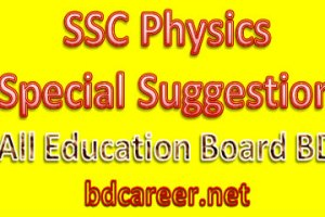SSC Physics Special Suggestion
