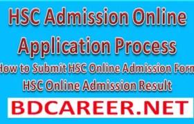 HSC Admission Online Application Process