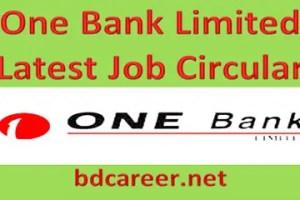 One Bank New Job Circular
