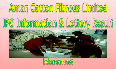 Aman Cotton Fibrous Limited IPO Lottery Result