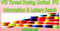 VFS Thread Dyeing Limited IPO Lottery Result
