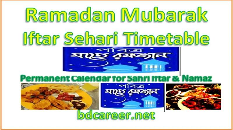 Ramadan Iftar Sehri Timing