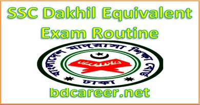 SSC Exam Routine 2021