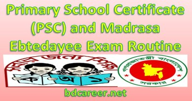 PSC Ebtedaye Exam Routine 2020