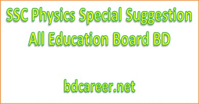SSC Physics Special Suggestion 2021