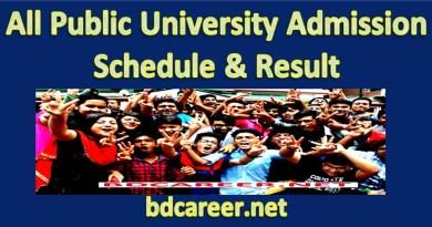 Public University Admission Schedule