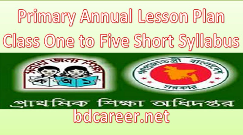Primary School Annual Lesson Plan 2021