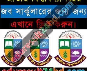 National University Job Circular 2016