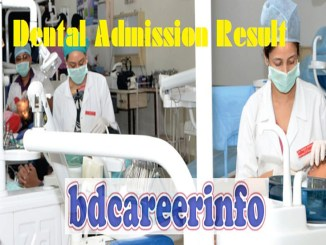 Dental Admission Result 2019-20