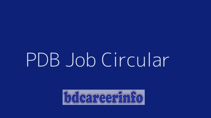 PDB Job Circular 2019