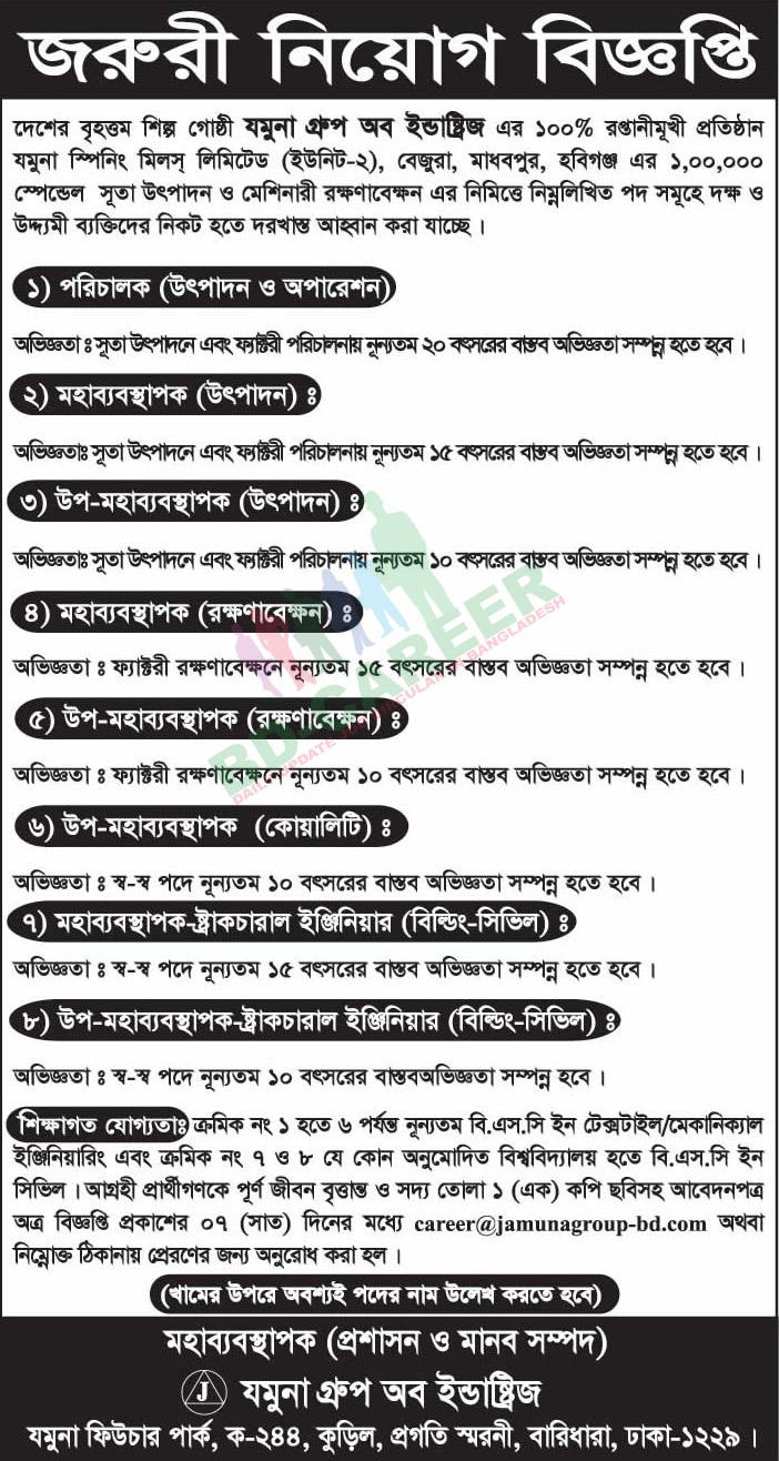 Jamuna Group of Industries job circular