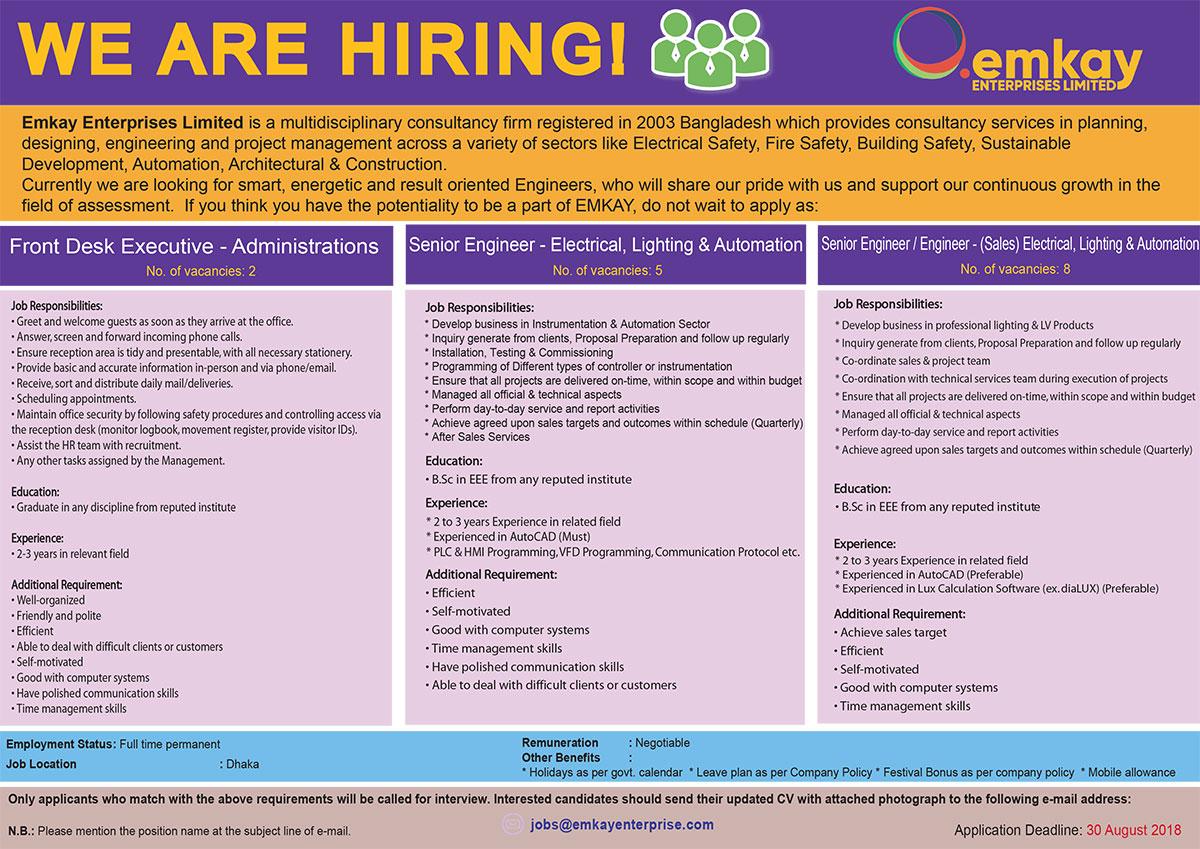 Emkay Enterprises Ltd Job Circular 2018