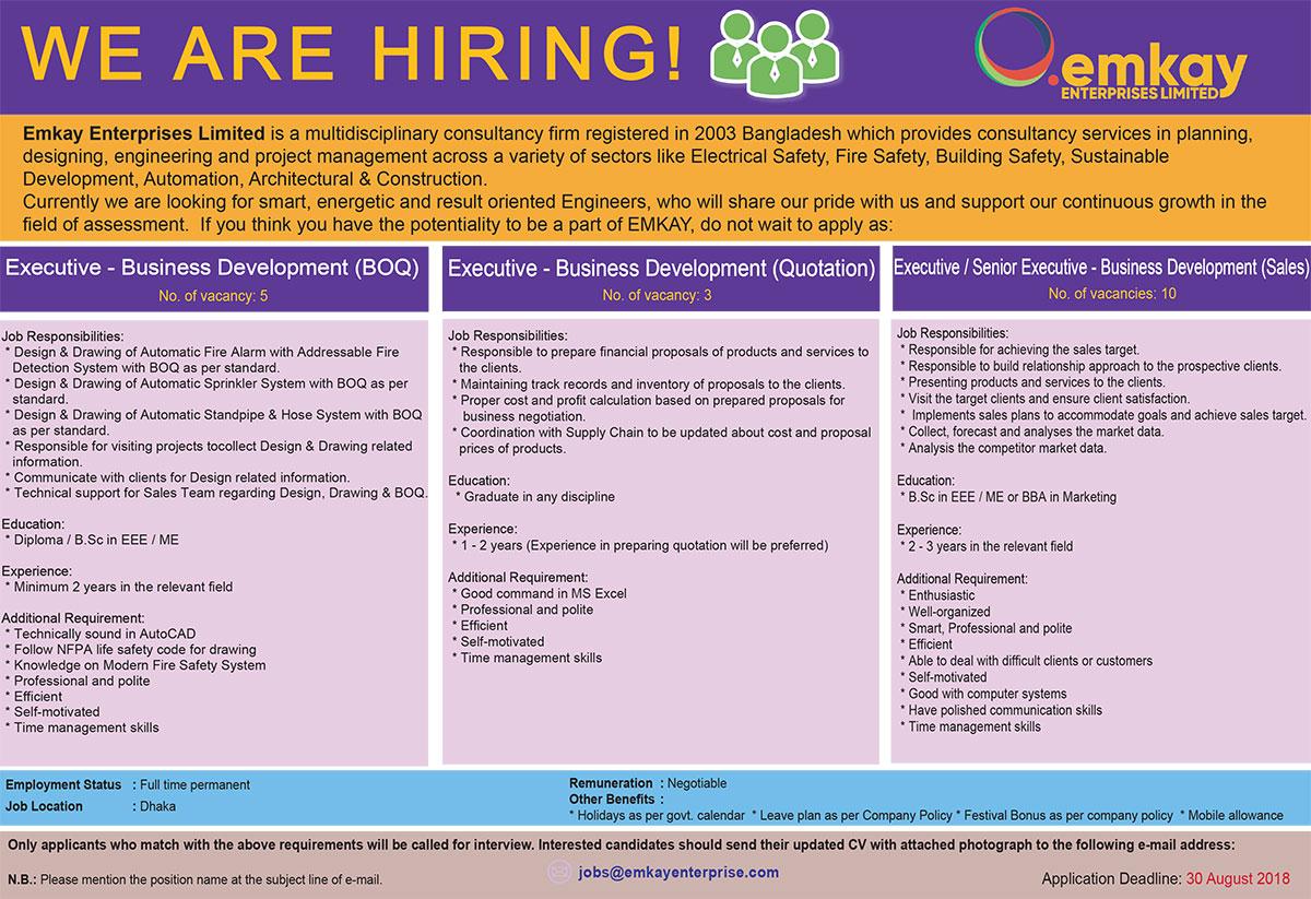 Emkay Enterprises Ltd Job Circular