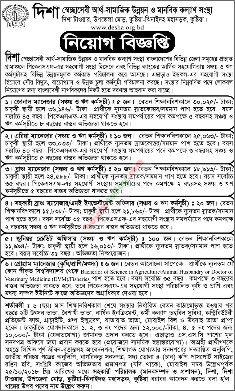Desha Job Circular Published