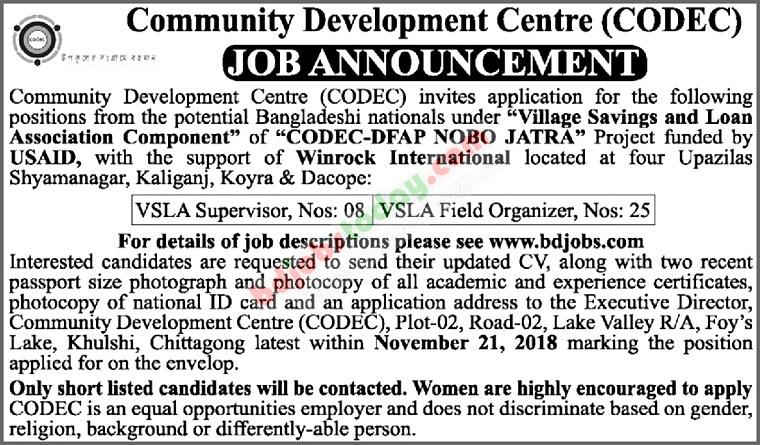 See CODEC Job Circular