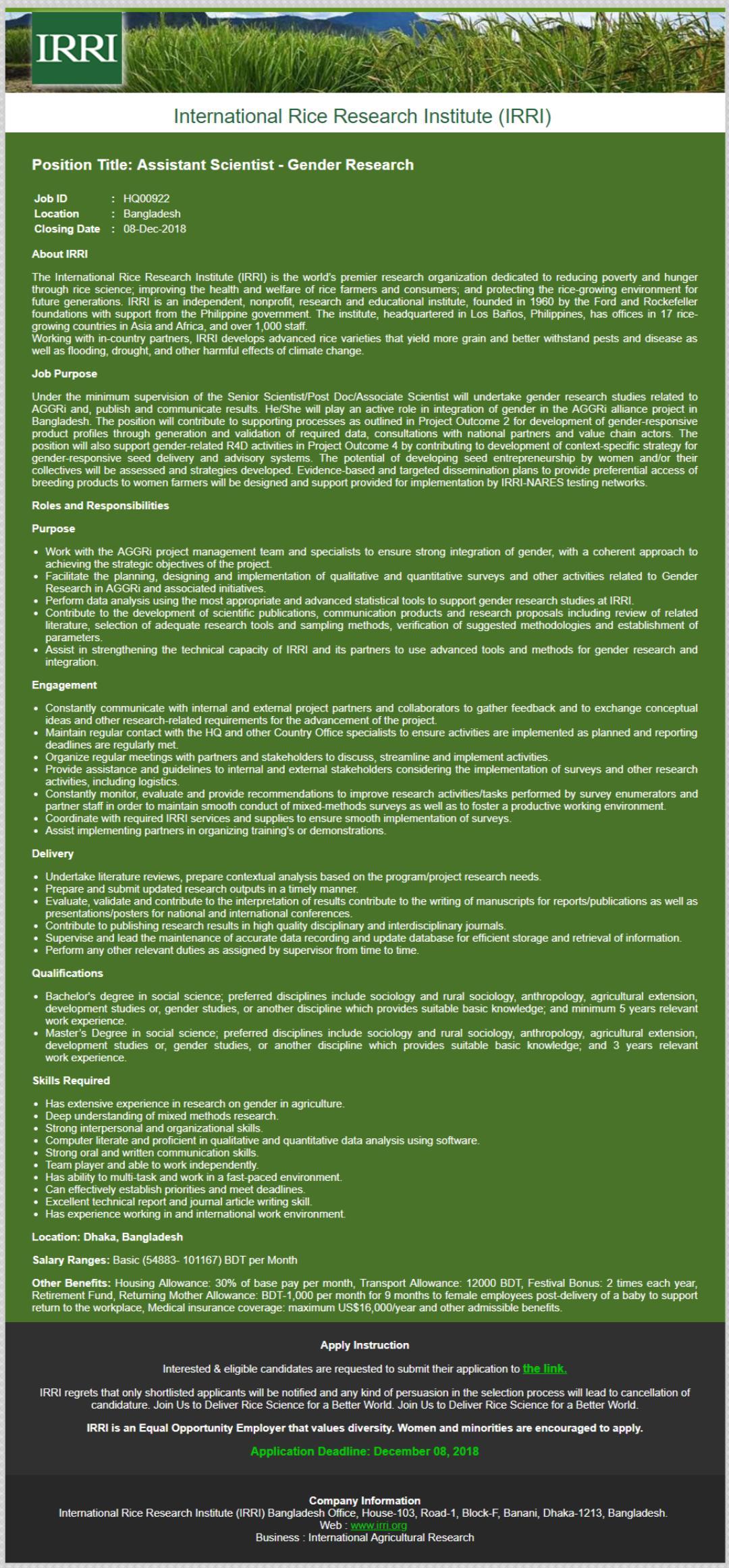 International Rice Research Institute (IRRI) (2)